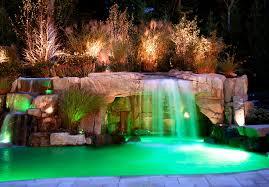 Inground Pool Patio Designs Light Waterfall Inground Swimming Pool Patio Ideas 2208