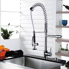 Single Lever Pull Out Kitchen Faucet by Kraus 1602 Fauc Befon