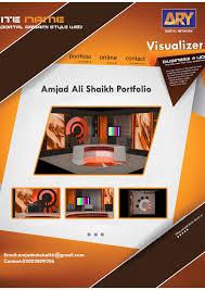 my 3d portfolio ary news set design on behance