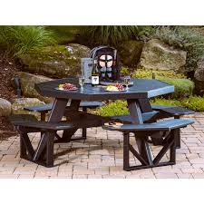 mission style table ls luxcraft crestville octagon picnic table picnic tables tables
