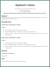 simple resume format sle resume for teachers in word format simple resume format for