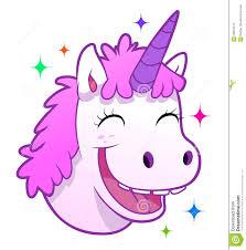 happy unicorn portrait stock vector image 58879476