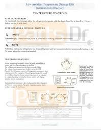 frigidaire u0026 kenmore garage refrigerator heater kit 5303918301