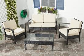 Wicker Deep Seating Patio Furniture by Mercury Row Cade 4 Piece Deep Seating Group Set With Cushion