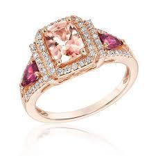 what is morganite morganite and rhodolite garnet diamond ring 1 3ctw item 19504513