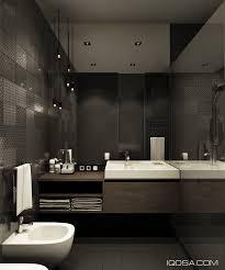 Dark Bathroom by Design A Chic Modern Space Around A Brick Accent Wall
