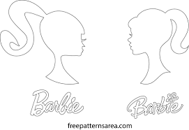barbie silhouette head vector logo sign freepatternsarea