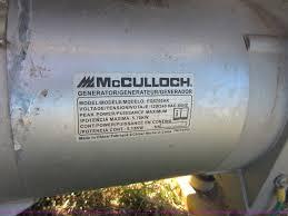 mcculloch fg5700ak generator item bb9176 sold november