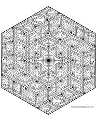 diamond hexagon geometric mandala to color also available in a