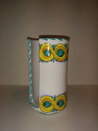 bicchieri in ceramica porta bicchieri in ceramica decorato a mano accessori per cucina