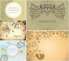 vintage cards antique ornate cards vector vector graphics