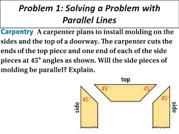 4 problem 1 solving a problem with parallel lines