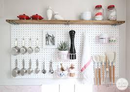 cool pegboard ideas pegboard kitchen storage