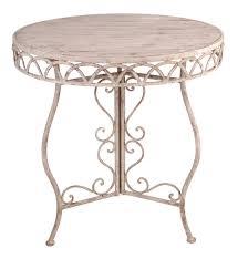 Iron Bistro Table Esschertdesign Aged Metal Bistro Table Reviews Wayfair