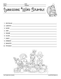 thanksgiving word scramble free printable allfreeprintable