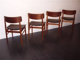 set of 4 black scandinavian chairs s chrobat 1960s design market