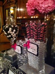 Pink And Black Candy Buffet by 32 Best Black W Pink Event Decor Images On Pinterest Candy