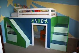 Ana White Bunk Bed Plans by Ana White My First Build Queen Size Playhouse Loft Bed Diy