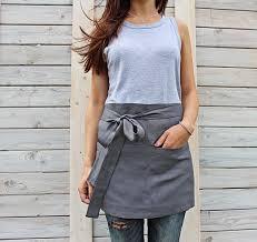 apron etsy cafe apron linen half unisex chef wrap