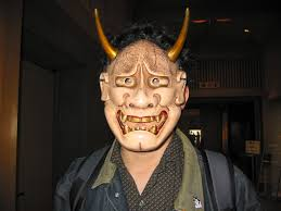 file guy in oni noh mask jpg wikimedia commons
