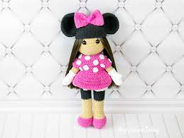 minnie mouse costume crochet doll in minnie mouse costume amigurumi today