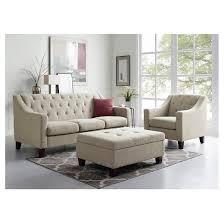 Beige Tufted Sofa by Felton Tufted Sofa Threshold Target
