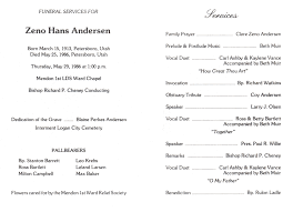 Program For Funeral Service Title U003e Generated By Personal Ancestral File