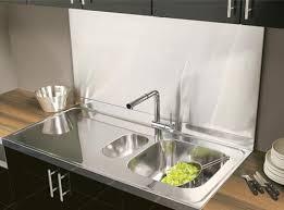 tableau en verre pour cuisine crdence verre leroy merlin fond de hotte verre aspect mtal h cm
