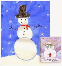 kinder snowman painting art projects for kids