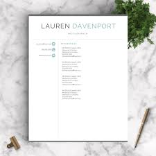Resume Templates For Mac Pages Professional Resume Template The Davenport