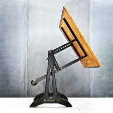 Industrial Drafting Table Desk Wood Drafting Table Desk Vintage Industrial 7 Drawer Swing
