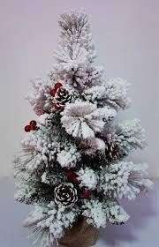 mini snow white fir tree with pine cones berries 60cm to 90cm