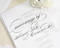 Images For Wedding Invitation Cards Beautiful Wedding Invitation In Black And White With Script