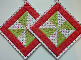 free patterns quilted potholders quilted pot holders pinwheels and polka dots quilt patterns free