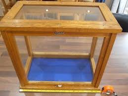 table top display cabinet antique oak and glass tabletop display cabinet 3 00 picclick uk