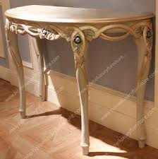 Half Moon Side Table Side Console Table Half Moon Console Table Demi Lune Console