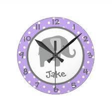 elephant nursery wall clocks zazzle