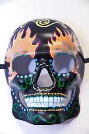 ghost glow mask hand painted day of the dead mask ghost rider vampfangs