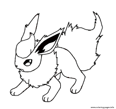 flareon eevee pokemon coloring pages printable