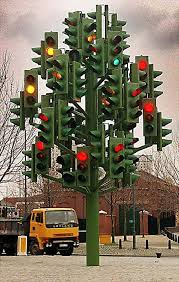 crazy christmas tree lights stop and go tree just plant it where we have some red light