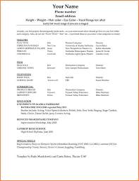 actor resume template actor resume templates acting resume template modeling