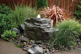 Rock Garden With Water Feature Bubbling Rocks Blue Thumb
