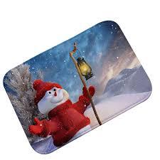 teppich k che neuheit winter schneemann weihnachten boden teppich küche indoor