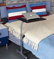 Adjustable Rolling Laptop Desk by Overbed Laptop Food Tray Table Rolling Desk Hospital Over Bed With