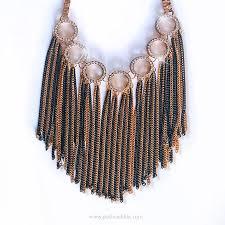 Metal Chain Chandelier Gold U0026 Black Handmade Long Chunky Dangling Chain Rhinestone