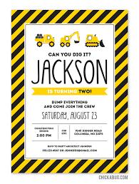 free printable construction party invitation printable