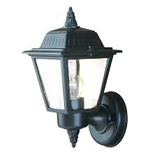 Lowes Outdoor Security Lighting by Shop Acclaim Lighting Builders Choice 10 In H Matte Black Outdoor