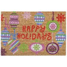 nedia home happy holidays bright ornaments 16 in x 24 in