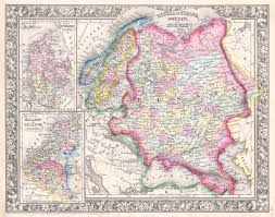 Holland Map File 1864 Mitchell Map Of Russia Scandinavia Denmark Holland