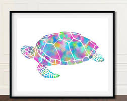 Sea Turtle Bathroom Accessories Sea Turtle Decor Etsy